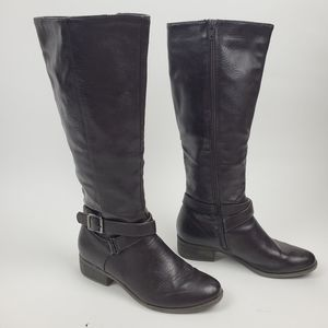 Croft & Barrow 7M Kelly Tall Riding Heeled Boots